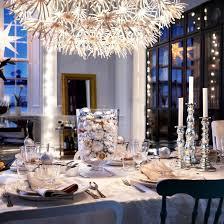 silver christmas ideas table
