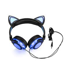 <b>Over</b>-<b>ear</b> Headphones with <b>LED</b> Cat Ears, L- Buy Online in ...