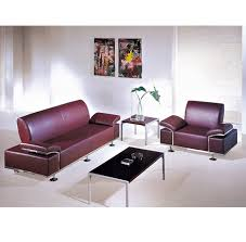 China <b>High Quality</b> Red <b>Leather Office</b> Reception Sofa in Stock ...