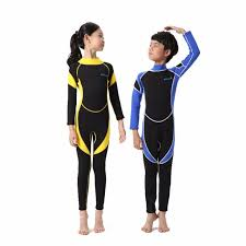 <b>Kids</b> Neoprene Diving Wetsuits <b>Children One Pieces</b> Long Sleeve ...