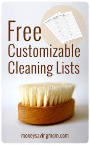 household management forms money saving mom customizable cleaning lists