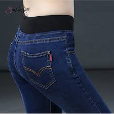 2019 <b>Brief Relate</b> Stretch Washed Jeans Woman Skinny Pencil ...