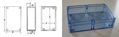 NEMA Boxes, Plastic Enclosure: <b>Blue</b> Transparent NEMA <b>4X</b> | Bud ...
