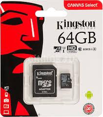 Купить <b>Карта памяти microSDXC</b> UHS-I U1 KINGSTON Canvas ...