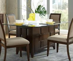 Glass Top Pedestal Dining Room Tables Dining Extendable Glass Table Wonderful For Extendable Glass