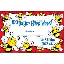 100 days of hard work bee recognition awards eu 844610 eureka eu 844610 100 days of hard work bee recognition awards in awards