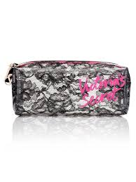 victoria 39 s secret black lace cosmetic bag make up smartphone pouch