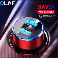 <b>OLAF 30W 3A</b> Quick Charge 3.0 USB Car Charger for Xiaomi Mi ...