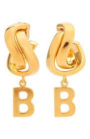 Женские золотые <b>серьги</b> twirl <b>BALENCIAGA</b> — купить за 31300 ...