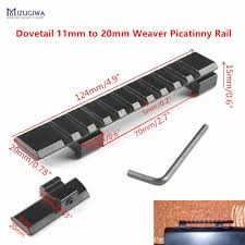 MIZUGIWA <b>Dovetail Extend Weaver Picatinny Rail</b> Adapter 11mm to ...