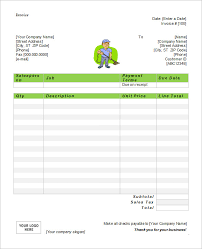 microsoft invoice  word excel pdf documents   microsoft cleaning service invoice word