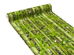 Papier peint vinyle sumatra coloris vert bambou murs