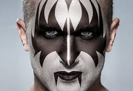 how to transform a face into the makeup of gene simmons from kiss in photo cc