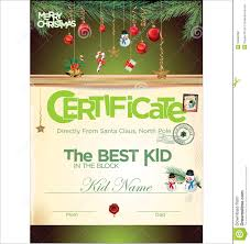 kids certificate for christmas stock illustration image  kids certificate for christmas
