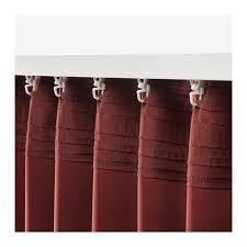 ANNAKAJSA Block-out curtains, <b>1 pair</b> Brown-red 145 <b>x</b> 250 cm - IKEA