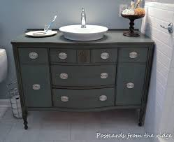 inspiration bathroom vanity chairs: postcards from the ridge use a dining room buffet for a bathroom vanity