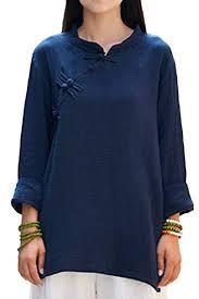 ASHER <b>FASHION</b> Women's <b>Chinese Style Long</b> Sleeve Linen Top ...