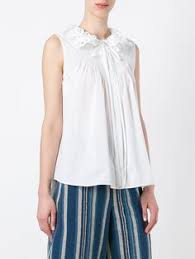 <b>Prada блузка</b> с высоким воротником с рюшами | Blouses | Блузки ...