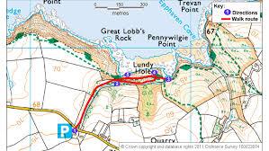 lundy bay walk national trust Polzeath Map Polzeath Map #25 polzeath map google