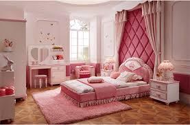 Princess Room Furniture Modern Pink Color Upholstered Unique Kids Princess Bedroom Furniture Sets BF0770345 Room O