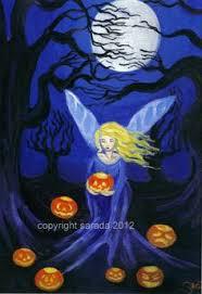 Purple Pumpkin Fairy <b>gothic print</b> 5 x 7 reproduction fantasy ...