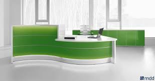 reception desks sohomod com valde countertop curved desk high gloss lime by mdd office furniture modern office reception desk