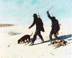 exhibitions fieldnotes page  hunters in the snow by gustave courbet 1867 oil on canvas 102 x