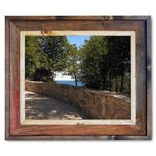 Arch <b>Rock Stone Wall</b> Canvas <b>Print</b> Framed in Barnwood | Made In ...