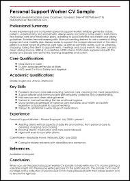 personal support worker cv sample   curriculum vitae builderpersonal support worker cv sample