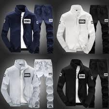 Sportswear suit men Autumn Winter New Korean Version ... - Vova