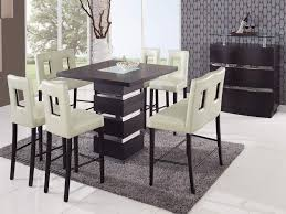 chair modern bar height dining table with  chairs counter furn