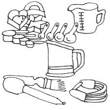 Small Picture coloring pages kitchen items kitchen coloring pages to download