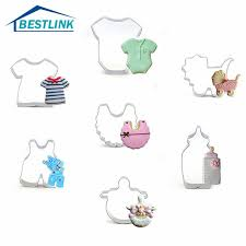 BL <b>7Pcs</b> Baby Shower Themed <b>Cookie Cutter</b> Set Stainless Steel ...