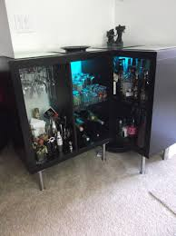 inspiring black bar sideboard and cabinet furniture with glass door panel for home mini black mini bar