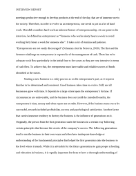 entrepreneur interview paper small business business essay