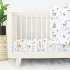 Blakely's <b>Boho</b> Woodland <b>Deer</b> Nursery Bedding | Caden Lane