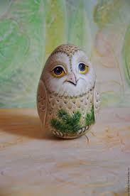 Купить Неваляшка-<b>яйцо</b> Сова Букля, музыкальная птица, роспись ...