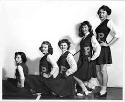 Image result for pictures of cheerleaders of the 1950's