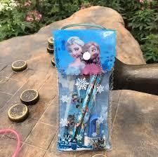 <b>Disney 6pcs</b>/set <b>Frozen</b> Pencil case+ruler+pencil+eraser+Booklet+ ...