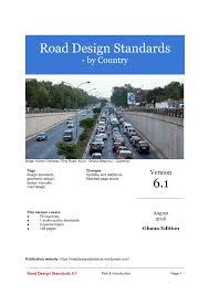 (PDF) Road design standards 6.1