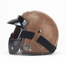 <b>Free shipping PU Leather</b> Helmets 3/4 Motorcycle Chopper Bike ...