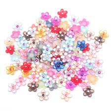 <b>200pcs Mixed</b> Petal Flower Pearl Crafts <b>Christmas</b> Decoration ...