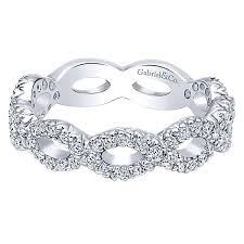 <b>14k White Gold</b> Stackable Ladies' Ring — Reads Jewelers