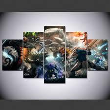 <b>YSDAFEN 5 panel</b> hd modern Dota 2 Game Art print canvas art wall ...