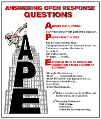 a p e responding to open ended questions reading skills the o to get our students to think critically while they we often ask those open ended thinking type questions questions tha