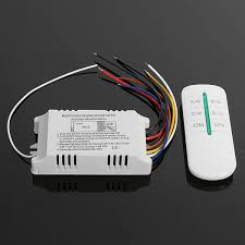 4 Way Digital Switch Wireless Remote Control Sleep AC180-<b>240V</b> ...