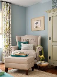 blue and green sitting room bhg bhg living rooms yellow