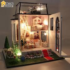 diy doll house miniature wooden building model little prince rose dollhouse furniture model toys of houses building doll furniture