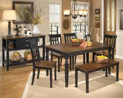 dining room table ashley furniture home: ashley d owingsville leg table with bench