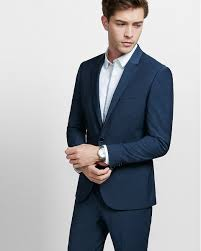 men s suits % off limited time express view middot skinny innovator navy blue performance stretch wool blend suit jacket